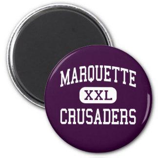 Marquette - cruzados - alto - Ottawa Illinois Imán Redondo 5 Cm