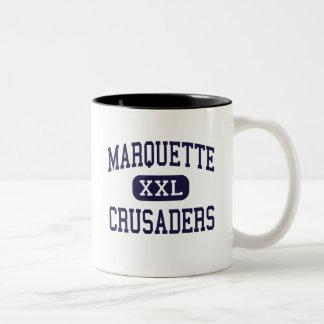 Marquette - cruzados - alto - Ottawa Illinois Taza Dos Tonos