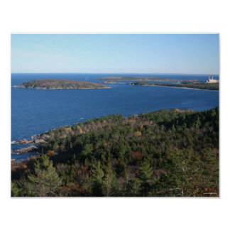Marquette from Sugarloaf Mountain Poster