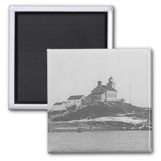 Marquette Harbor Lighthouse 2 2 Inch Square Magnet
