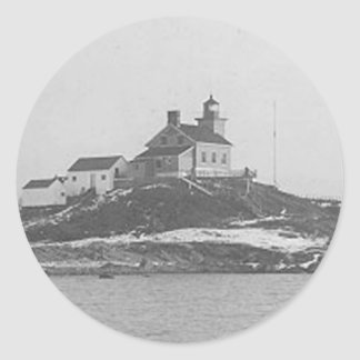 Marquette Harbor Lighthouse 2 Classic Round Sticker