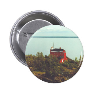 Marquette Harbor Lighthouse 2 Inch Round Button