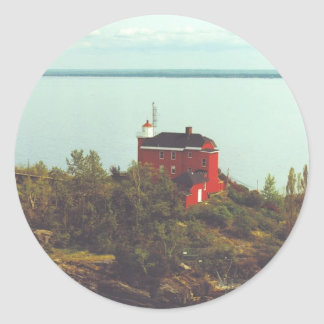 Marquette Harbor Lighthouse Classic Round Sticker