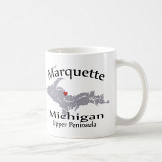 Marquette Michigan Heart Map Design Mug Coffee Mug