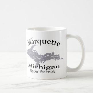 Marquette Michigan Map Design Mug Coffee Mugs