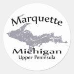 Marquette Michigan Map Design Sticker