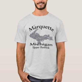 Marquette Michigan Map Design T-shirt