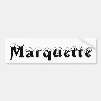 Marquette Michigan Snow Bumper Sticker