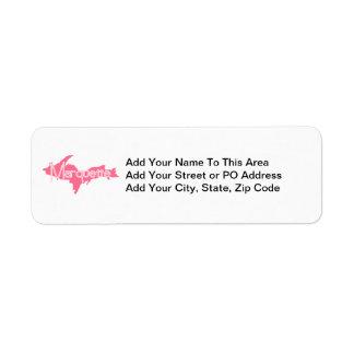 Marquette, Michigan Upper Peninsula Return Address Label