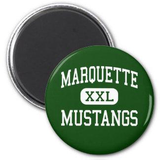 Marquette - mustangos - alto - Chesterfield Imán Redondo 5 Cm