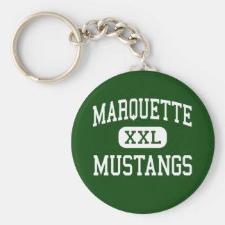 Marquette - mustangos - alto - Chesterfield Llavero Redondo Tipo Pin