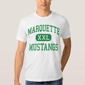 Marquette - mustangos - alto - Chesterfield Playera