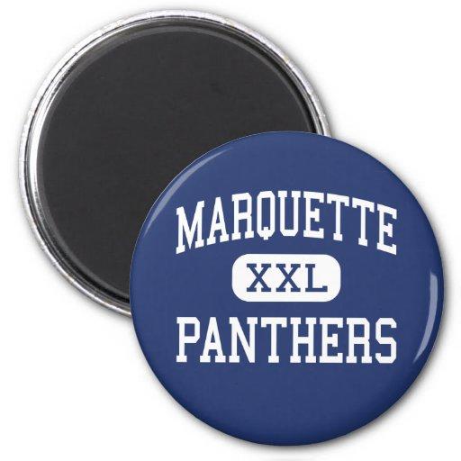 Marquette Panthers Elementary Detroit Fridge Magnet