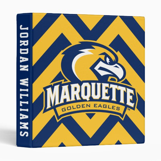 Marquette University Chevron Pattern 3 Ring Binder