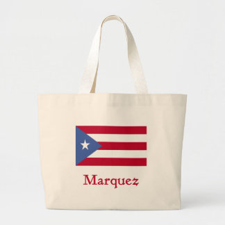 Marquez Puerto Rican Flag Large Tote Bag