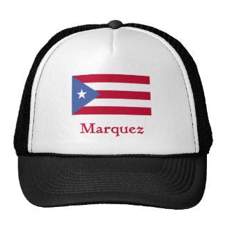 Marquez Puerto Rican Flag Trucker Hats