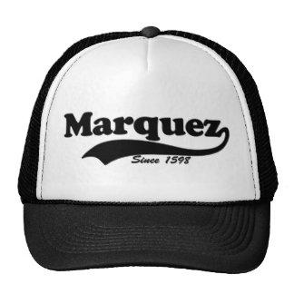 """Marquez ... since 1598"" trucker hat..."