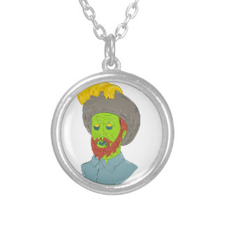 Marquis Conquistador Grime Art Silver Plated Necklace