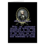 Marquis de Lafayette Quote on Insurrection Greeting Card