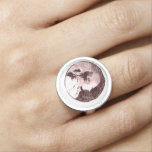 Marquis de Sade Portrait Goth Ring