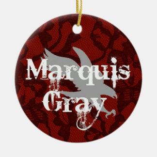 Marquis Gray Xmas Ornament