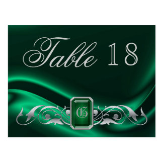 Marquis Green Jewel Table Number Postcard