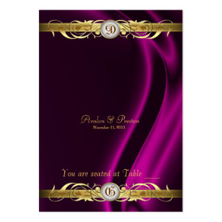 Marquis Pink Silk Gold Scroll Table Placecard Large Business Card