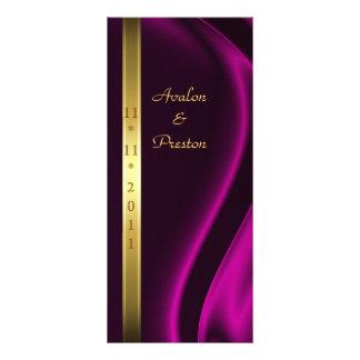 Marquis Pink Silk Gold Wedding Program