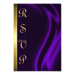 Marquis Purple Silk Gold RSVP Card Custom Invites