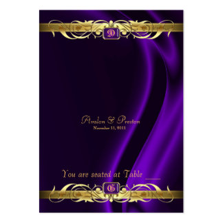 Marquis Purple Silk Gold Scroll Table Placecard Large Business Card