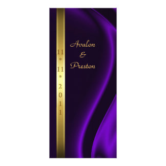 Marquis Purple Silk Gold Wedding Program