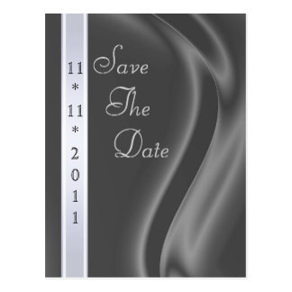 Marquis Silk Silver Save The Date Postcard