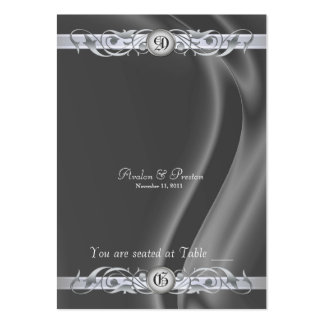 Marquis Silk Silver Scroll Table Placecard Large Business Card