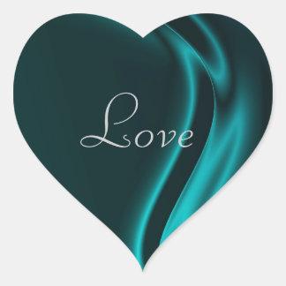 Marquis Teal Heart Love Sticker