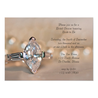Marquise Diamond Engagement Ring Bridal Shower Card
