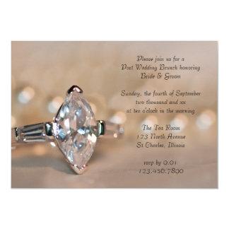 Marquise Diamond Ring Post Wedding Brunch Invite