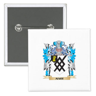 Marr Coat of Arms - Family Crest Pinback Buttons