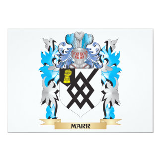 Marr Coat of Arms - Family Crest 5x7 Paper Invitation Card