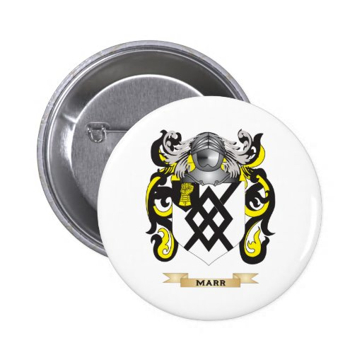 Marr Coat of Arms (Family Crest) Pinback Button