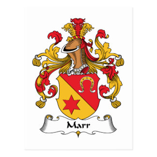 Marr Family Crest Postcard