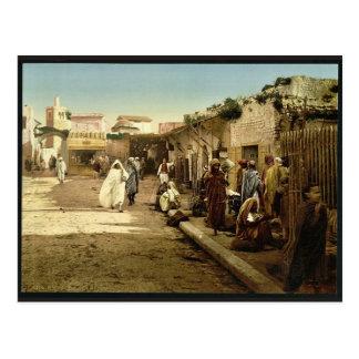 Marr Street, Tunis, Tunisia vintage Photochrom Post Card