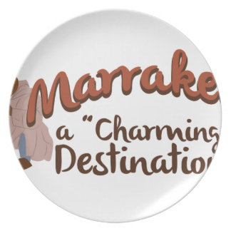 Marrakech Charming Destination Melamine Plate