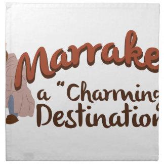 Marrakech Charming Destination Napkin