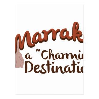 Marrakech Charming Destination Postcard