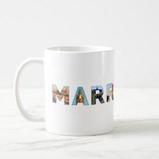 marrakech city morocco symbol text travel landmark coffee mug
