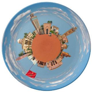 marrakech little planet morocco travel tourism lan dinner plate