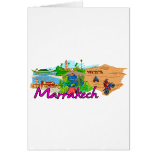 Marrakech - Morocco.png Greeting Cards