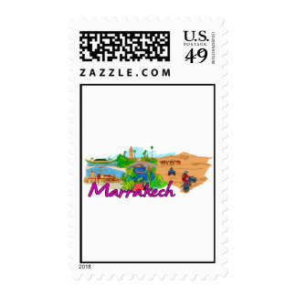 Marrakech - Morocco.png Postage Stamp