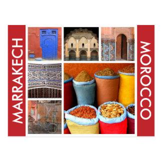 marrakech morocco scenes postcard