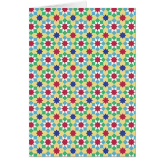 Marrakech notecard colourway 1 greeting card